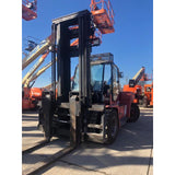 "2005 Kalmar DCE160-1200 40000 LB CAPACITY DIESEL FORKLIFT PNEUMATIC 157"" 2 STAGE MAST SIDE SHIFTER FORK POSITIONER HEATED CAB STOCK # BF9585009-115-DBNC - united-lift-equipment"