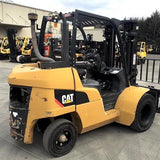 "2013 CATERPILLAR DP40N 8000 LB DIESEL FORKLIFT PNEUMATIC 90/187"" 3 STAGE MAST SIDE SHIFTER 4,079 HOURS STOCK # BF9219329-349-WEBNC"