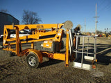 2015 HAULOTTE 4527A TOWABLE BOOM LIFT WITH JIB 45' REACH ELECTRIC 2WD 301 HOURS STOCK # BF9251009-CEIL - United Lift Used & New Forklift Telehandler Scissor Lift Boomlift