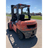2007 TOYOTA 7FGU35 8000 LB GASOLINE FORKLIFT PNEUMATIC 93/199 3 STAGE MAST SIDE SHIFTER & FORK POSITIONER DUAL TIRES STOCK # BF70481-MYR ** ONLY $422.00 PER MONTH **