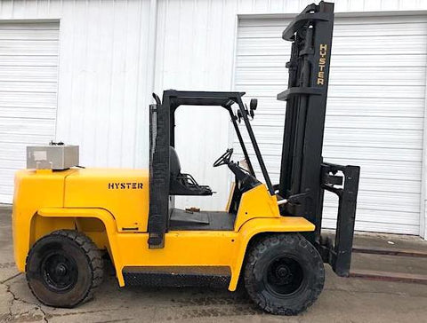1998 HYSTER H155XL 15500 LB DIESEL FORKLIFT PNEUMATIC 123/173 2 STAGE MAST SIDE SHIFTER 2300 HOURS STOCK # BF9319639-AETX