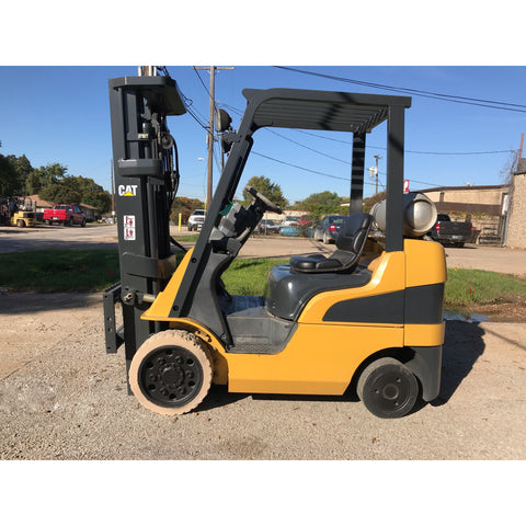 2006 CATERPILLAR C5000 5000 LB LP GAS FORKLIFT CUSHION 84/188 3 STAGE MAST SIDE SHIFTER 4474 HOURS STOCK # BFE0167-PRTX