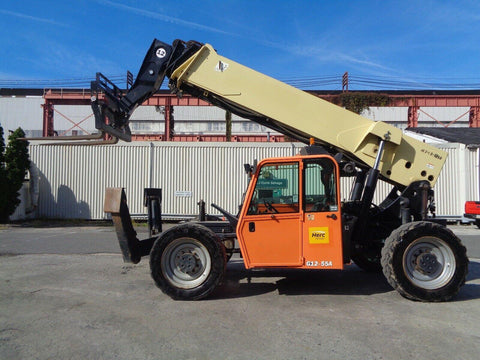 2013 JLG G12-55A 12000 LB DIESEL TELESCOPIC FORKLIFT TELEHANDLER PNEUMATIC 4WD ENCLOSED CAB 4460 HOURS STOCK # BF9520829-ESPA