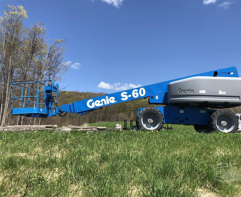 2016 GENIE S60 TELESCOPIC BOOM LIFT AERIAL LIFT 60' REACH DIESEL 4WD 266 HOURS STOCK # BF9511279-ISNY