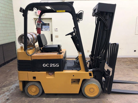 "1994 DAEWOO GC25S 5000 LB LP GAS FORKLIFT CUSHION 82/188"" 3 STAGE MAST SIDE SHIFTER 5712 HOURS STOCK # BF9092299-BEMIN"