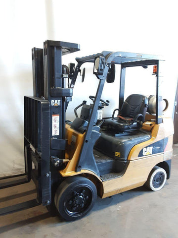 "2009 CATERPILLAR C5000 5000 LB LP GAS FORKLIFT CUSHION 82/187"" 3 STAGE MAST SIDE SHIFTER 8691 HOURS STOCK # BF9223469-NCB"