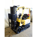 2012 HYSTER S40FT 4000 LB LP GAS FORKLIFT CUSHION 83/189 3 STAGE MAST SIDE SHIFTER 5636 HOURS STOCK # 20826-NCB