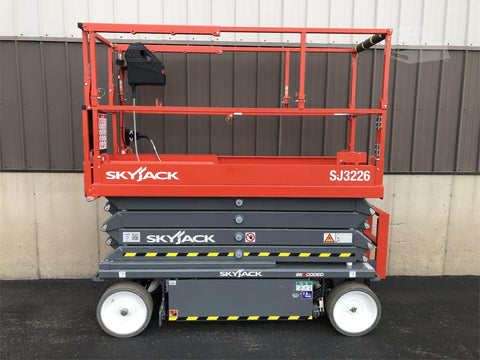 2020 SKYJACK SJ3226 SCISSOR LIFT 26' REACH ELECTRIC SMOOTH CUSHION TIRES SLIDE OUT DECK EXTENSION 11 HOURS STOCK # BF9141669-ISNY - United Lift Equipment LLC