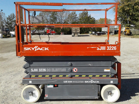 2013 SKYJACK SJIII3226 SCISSOR LIFT 26' REACH ELECTRIC CUSHION TIRES 136 HOURS STOCK # BF973429-CEIL - United Lift Used & New Forklift Telehandler Scissor Lift Boomlift