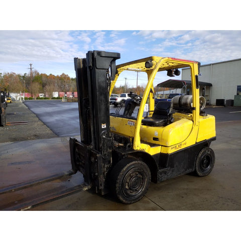 2011 HYSTER H80FT 8000 LB LP GAS FORKLIFT PNEUMATIC 90/185 3 STAGE MAST SIDE SHIFTER 4616 HOURS STOCK # 21297-NCB