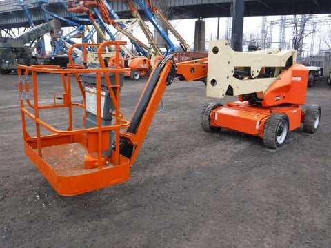 2016 JLG E450AJP ARTICULATING BOOM LIFT AERIAL LIFT WITH JIB ARM 45' REACH ELECTRIC 1083 HOURS STOCK # BF9341269-NLEQ - United Lift Used & New Forklift Telehandler Scissor Lift Boomlift