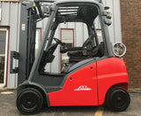 "2007 LINDE H20CT-600 4000 LB LP GAS FORKLIFT CUSHION 188"" 3 STAGE MAST SIDE SHIFTER STOCK # BF9010579-MWWI"