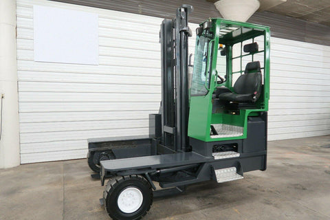 2006 COMBI CL9000 9000 LB DIESEL FORKLIFT PNEUMATIC SIDE LOADER 115/158 2 STAGE MAST FORK POSITIONER 7104 HOURS STOCK # BF9457689-DPA