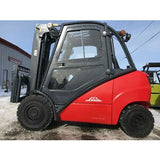 "2003 LINDE H30D 6000 LB CAPACITY DIESEL FORKLIFT PNEUMATIC 87/185"" 3 STAGE MAST ENCLOSED CAB SIDE SHIFTER 4450 HOURS STOCK # BF095379-MWWI - united-lift-equipment"