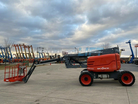2013 SKYJACK SJ63AJ ARTICULATING BOOM LIFT AERIAL LIFT WITH JIB ARM 63' REACH DUAL FUEL 4WD 1720 HOURS STOCK # BF9250049-RIL - United Lift Used & New Forklift Telehandler Scissor Lift Boomlift