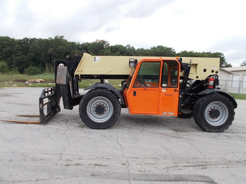 2012 JLG G10-55A 10000 LB DIESEL ENCLOSED CAB TELESCOPIC FORKLIFT TELEHANDLER PNEUMATIC 4WD STOCK # BF923680-RIL