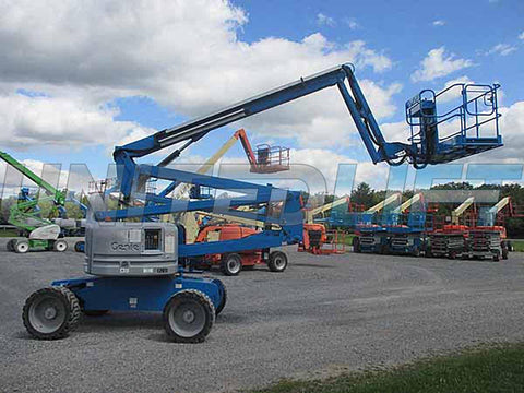 2013 GENIE Z60/34 ARTICULATING BOOM LIFT AERIAL LIFT 60' REACH DUAL FUEL 1815 HOURS STOCK # BF9455619-HLNY