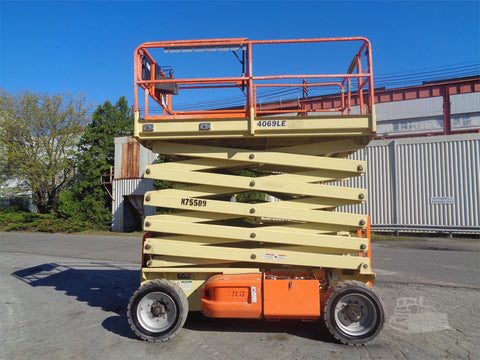 2012 JLG 4069LE SCISSOR LIFT 40' REACH ELECTRIC PNEUMATIC TIRES 399 HOURS STOCK # BF92097499-ESPA