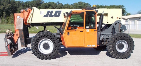 2012 JLG G12-55A 12000 LB DIESEL TELESCOPIC FORKLIFT TELEHANDLER PNEUMATIC 4WD ENCLOSED CAB STOCK # BF923526-RIL