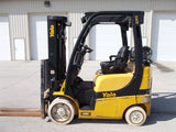 2013 YALE GLC050VX 5000 LB LP GAS FORKLIFT CUSHION 83/189 3 STAGE MAST SIDE SHIFTER STOCK # BF924286-RIL
