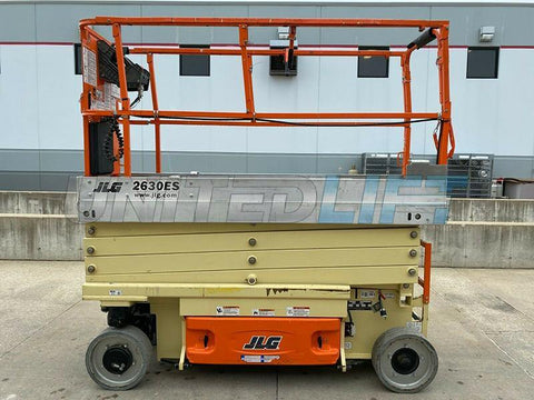 2014 JLG 2630ES SCISSOR LIFT 26' REACH ELECTRIC CUSHION TIRES 331 HOURS STOCK # BF9251669-RIL - United Lift Used & New Forklift Telehandler Scissor Lift Boomlift