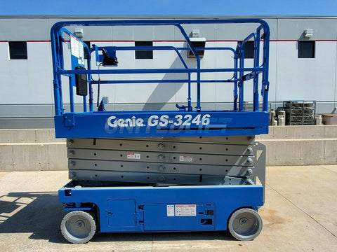 2011 GENIE GS3246 SCISSOR LIFT 32' REACH ELECTRIC SMOOTH CUSHION TIRES 315 HOURS STOCK # BF9521409-RIL