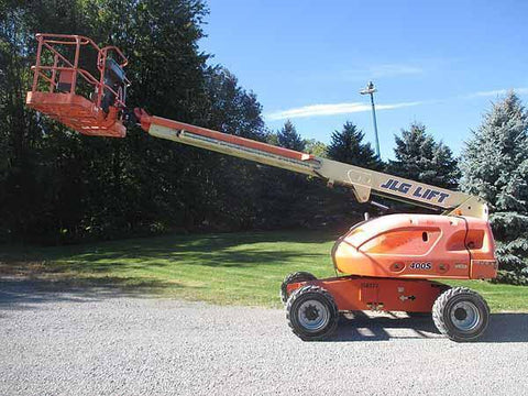 2012 JLG 400S TELESCOPIC STRAIGHT BOOM LIFT AERIAL LIFT 40' REACH DIESEL 4WD 2500 HOURS STOCK # BF9203669-HLNY