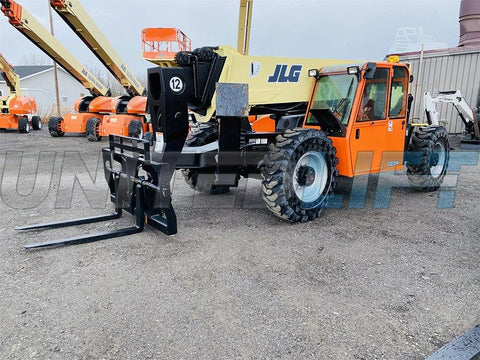 2012 JLG G12-55A 12000 LB DIESEL TELESCOPIC FORKLIFT TELEHANDLER PNEUMATIC 4WD ENCLOSED CAB 2634 HOURS STOCK # BF9890839-BATNY