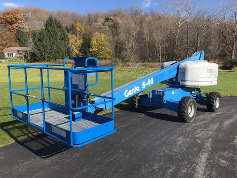 2012 GENIE S40 TELESCOPIC BOOM LIFT AERIAL LIFT 40' REACH DIESEL 4WD 2264 HOURS STOCK # BF9321719-ISNY