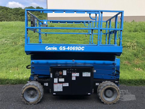 2016 GENIE GS4069DC SCISSOR LIFT 40' REACH ELECTRIC ROUGH TERRAIN 27 HOURS STOCK # BF9213769-ISNY - United Lift Used & New Forklift Telehandler Scissor Lift Boomlift