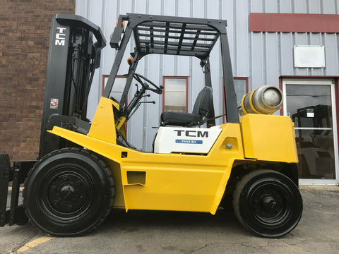 "TCM FHG30N8 6000 LB LP GAS FORKLIFT PNEUMATIC 171"" 3 STAGE MAST SIDE SHIFTER STOCK # BF9003319-MWWI"