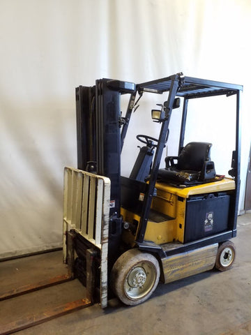"2004 YALE ERC040VA 4000 LB ELECTRIC FORKLIFT 84/194"" 3 STAGE MAST SIDE SHIFTER 16126 HOURS STOCK # BF9218699-NCB"