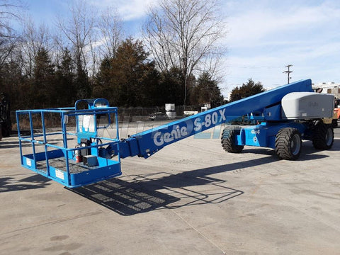 2014 GENIE S80X TELESCOPIC BOOM LIFT AERIAL LIFT 80' REACH DIESEL 4WD 170 HOURS STOCK # BF9226449-NCB