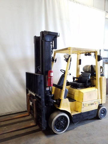 2005 HYSTER S80XM-BCS 8000 LB LP GAS FORKLIFT CUSHION 100/218 3 STAGE MAST SIDE SHIFTER 6388 HOURS STOCK # BF9219859-NCB