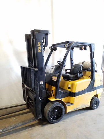 2007 YALE GLC080VX 8000 LB LP GAS FORKLIFT CUSHION 94/200 3 STAGE MAST SIDE SHIFTER 13341 HOURS STOCK # BF9219869-NCB