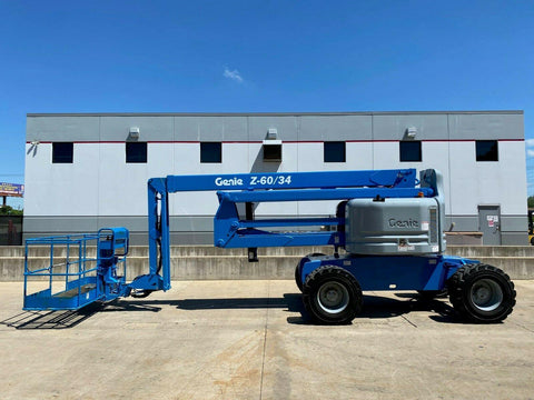 2006 GENIE Z60/34 ARTICULATING BOOM LIFT AERIAL LIFT WITH JIB ARM 60' REACH DIESEL 814 HOURS STOCK # BF9565389-RIL
