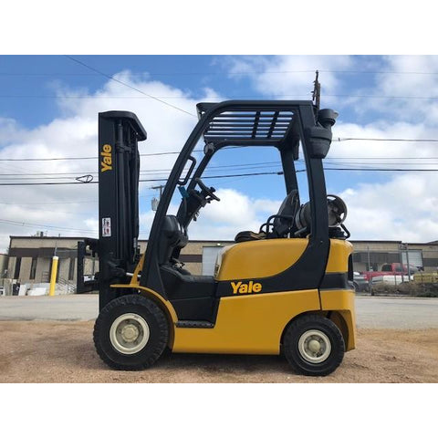 2015 YALE GLP030 3000 LB LP GAS FORKLIFT PNEUMATIC 84/189 3 STAGE MAST SIDE SHIFTER STOCK # BFCE3135-PRTX