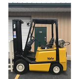 2005 YALE GLP040 4000 LB LP GAS FORKLIFT PNEUMATIC 84/130 2 STAGE MAST 4457 HOURS STOCK # 8159-04320C-ARB - Buffalo Forklift LLC