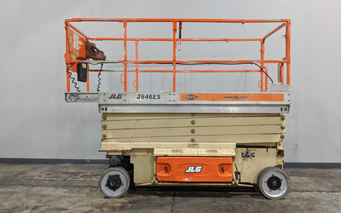 2008 JLG 2646ES SCISSOR LIFT 26' REACH ELECTRIC NON MARKING TIRES STOCK # BF992329-ILIL - United Lift Used & New Forklift Telehandler Scissor Lift Boomlift