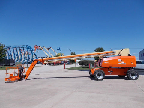 2002 JLG 860 SJ STRAIGHT BOOM LIFT AERIAL LIFT WITH JIB ARM 86' REACH DIESEL 4WD STOCK # BF98602S-RIL