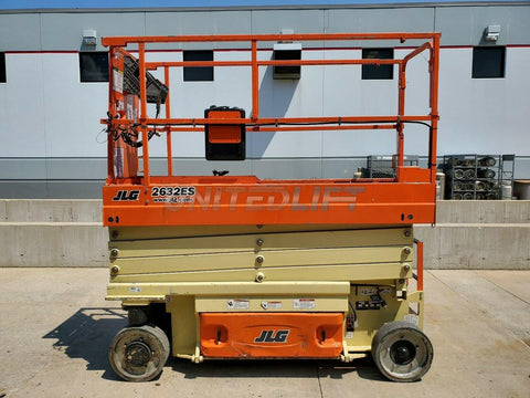 2016 JLG 2632ES SCISSOR LIFT 500 LB 26' REACH ELECTRIC WITH DECK EXTENSION 255 HOURS STOCK # BF9785559-RIL