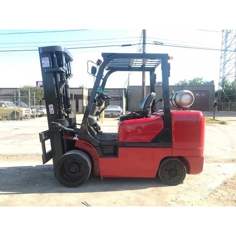 "2006 Kalmar C100CXPS 10000 LB CAPACITY LP GAS FORKLIFT CUSHION 189"" 3 STAGE MAST SIDE SHIFTER 8900 HOURS STOCK # BFCE3030-PRTX"
