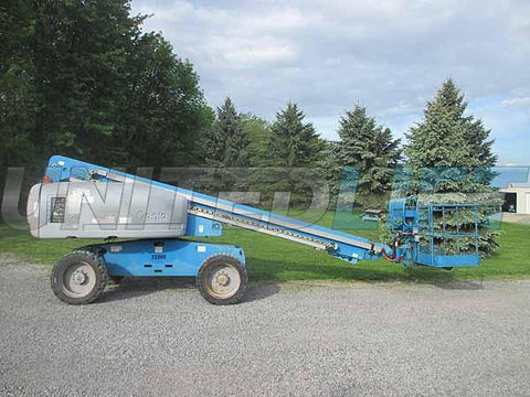 2011 GENIE S60X TELESCOPIC STRAIGHT BOOM LIFT AERIAL LIFT 60' REACH DIESEL 4WD 4744 HOURS STOCK # BF9485369-HLNY