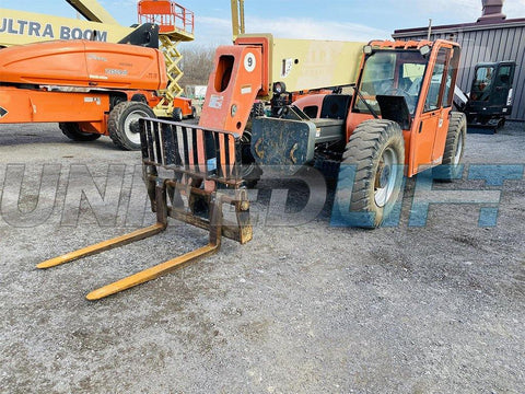 2007 JLG G9-43A 9000 LB DIESEL TELESCOPIC FORKLIFT TELEHANDLER PNEUMATIC 4WD ENCLOSED CAB 4548 HOURS STOCK # BF9280189-BATNY