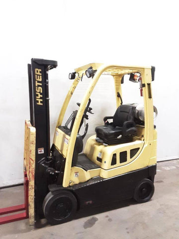 "2016 HYSTER S30FT 3000 LB LP GAS FORKLIFT CUSHION 82/126"" 2 STAGE MAST SIDE SHIFTER 6532 HOURS STOCK # BF9237179-NCB - United Lift Equipment LLC"