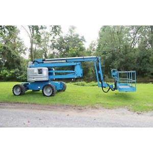 2013 GENIE Z60/34 ARTICULATING BOOM LIFT AERIAL LIFT 60' REACH DIESEL 2206 HOURS STOCK # BF41817-DPA