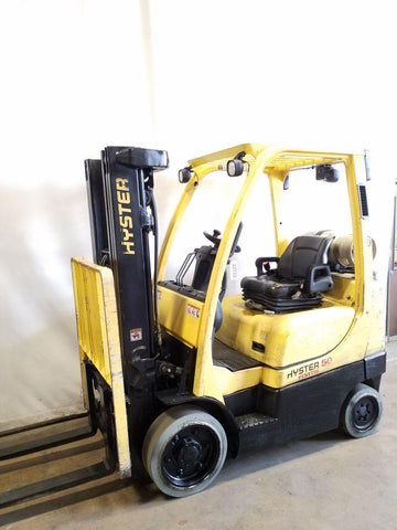 2016 HYSTER S50FT 5000 LB LP GAS FORKLIFT CUSHION 83/189 3 STAGE MAST SIDE SHIFTER 11281 HOURS STOCK # BF9221339-NCB