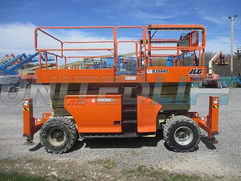 2011 JLG 4394RT SCISSOR LIFT 43' REACH DIESEL ROUGH TERRAIN 4WD OUTRIGGERS 1238 HOURS STOCK # BF9005529-HLNY