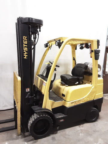 "2016 HYSTER S60FT 6000 LB LP GAS FORKLIFT CUSHION 96/272"" QUAD MAST SIDE SHIFTER 13202 HOURS STOCK # BF9235559-NCB"