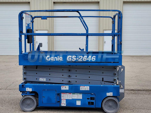 2012 GENIE GS2646 SCISSOR LIFT 26' REACH ELECTRIC DECK EXTENSION 207 HOURS STOCK # BF9500349-RIL